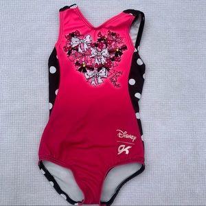 Gymnastic leotard. Pink with Disney design. 2T